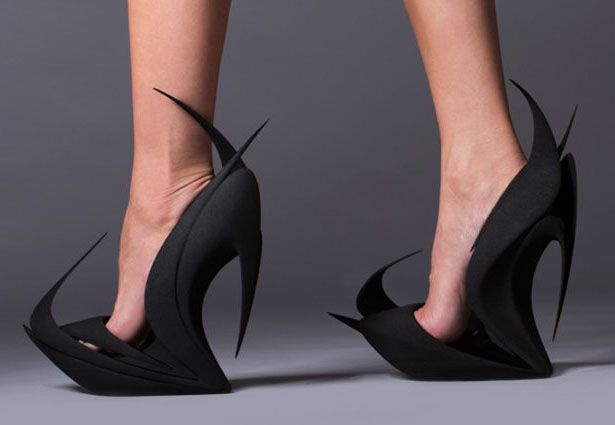 Flames Shoes by Zaha Hadid   Couture