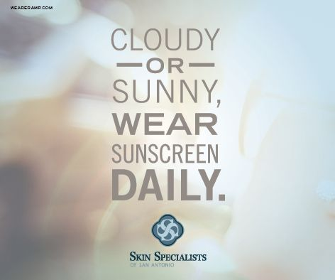 Protect your skin! Wear sunscreen on sunny and cloudy days! #skincare #beauty