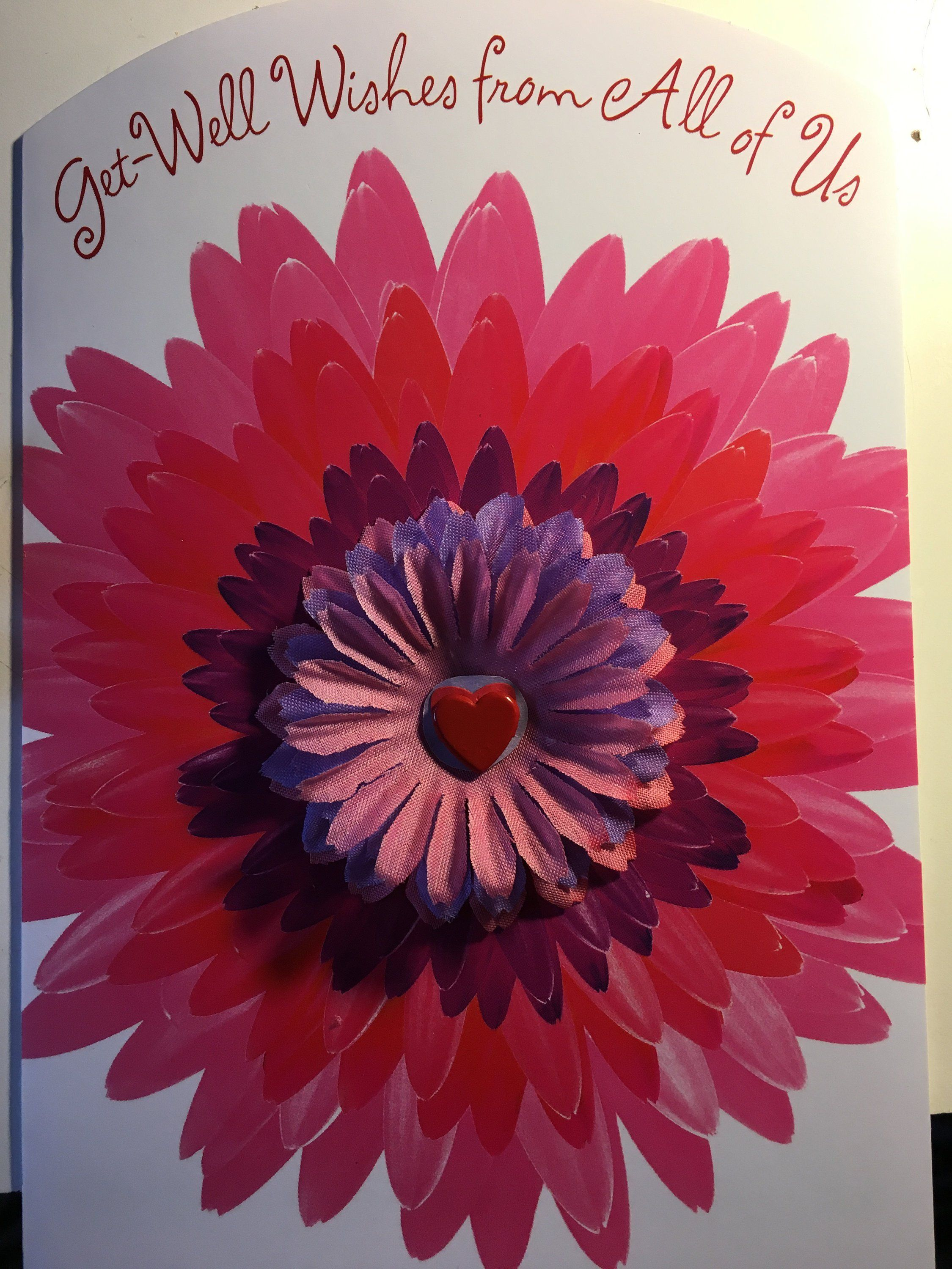 Super Unique And Pretty Get Well Card Plus Quilled Matching 4 Flower Magnet Set As Gift Get Well Cards Flower Magnets Pretty Cards