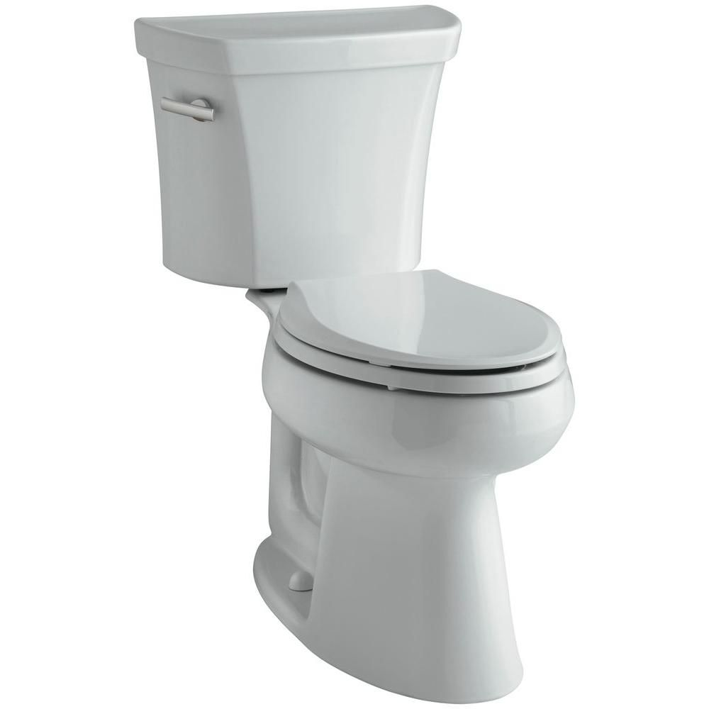 Highline 2 Piece 1 6 Gpf Single Flush Elongated Toilet In Ice Grey