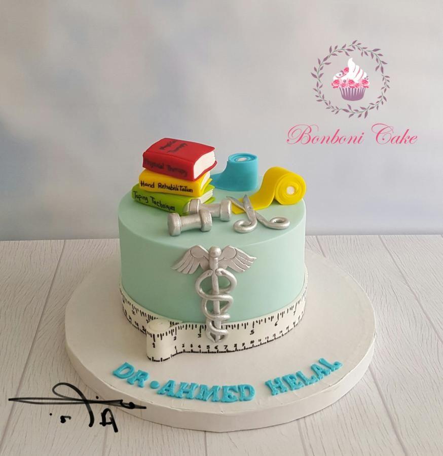 Cake for physiotherapist graduation cakes medical cake