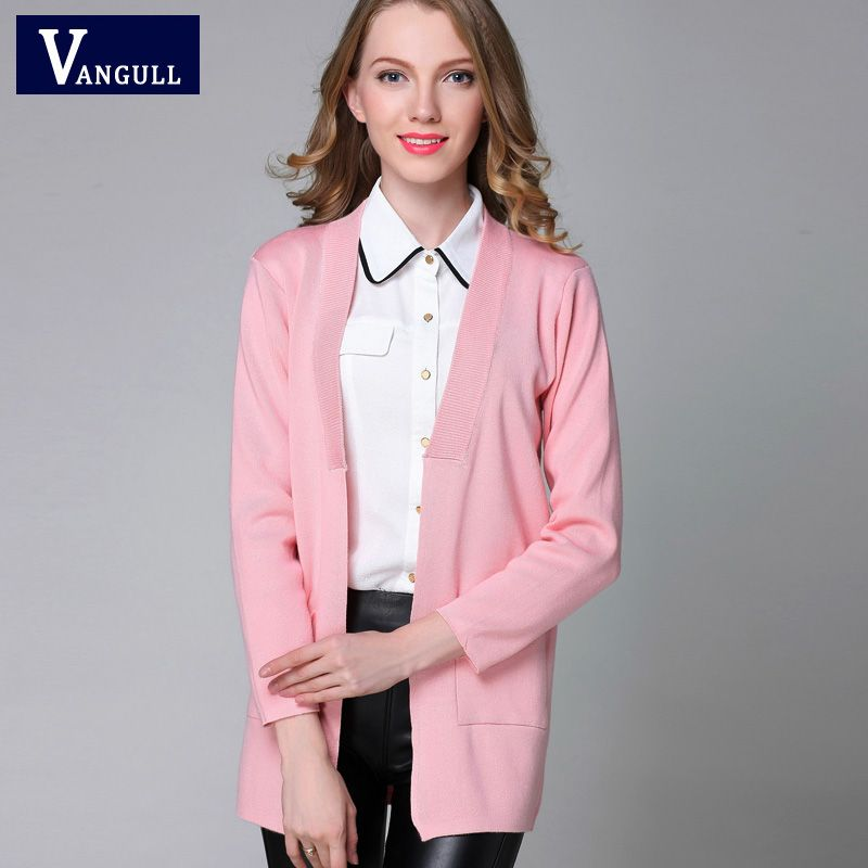 New Autumn Spring Women Sweater Cardigans Casual Warm Long Design ...