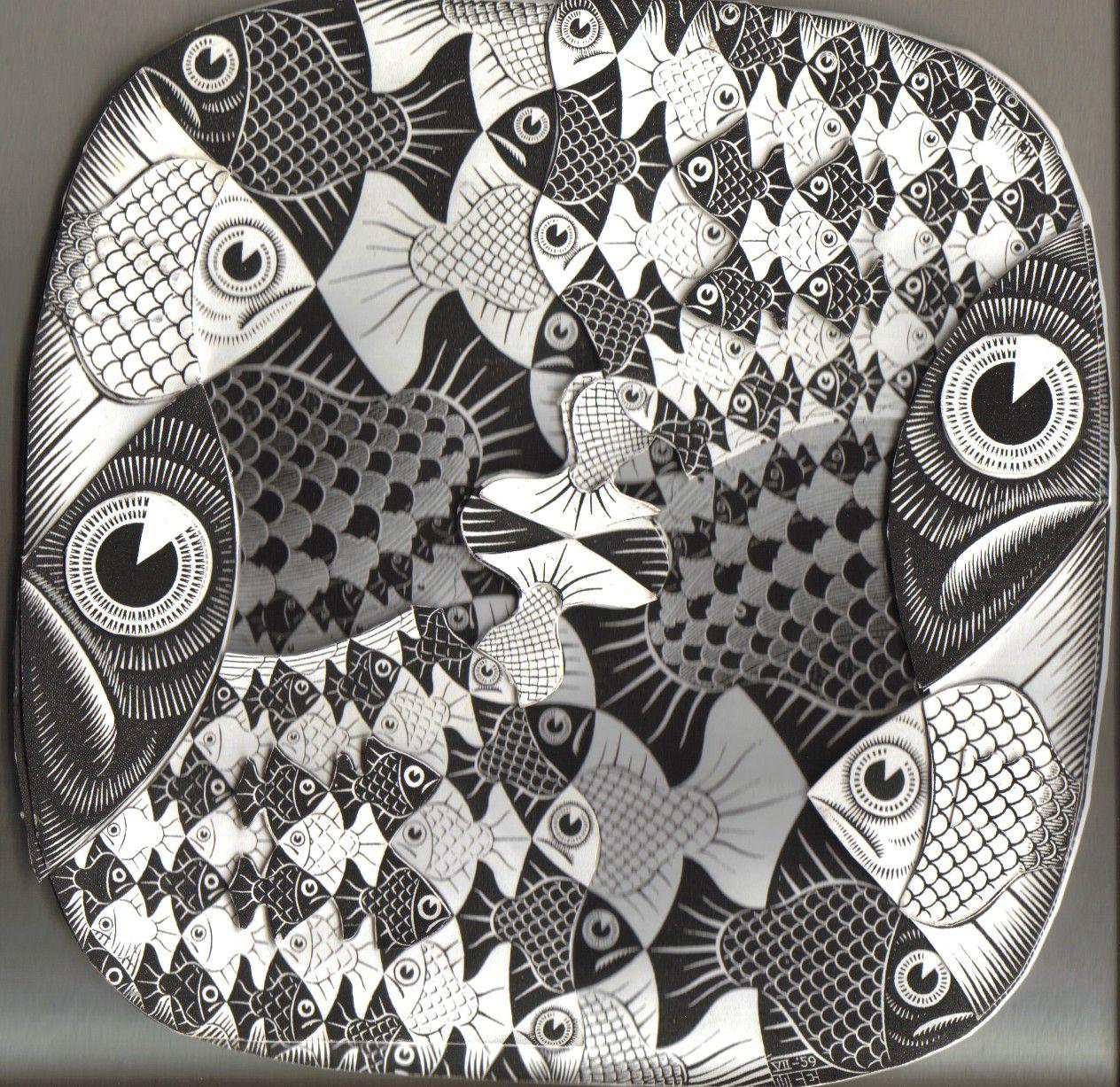 Escher y las matemáticas... | PEZ 1 | Pinterest | Ilusiones ...