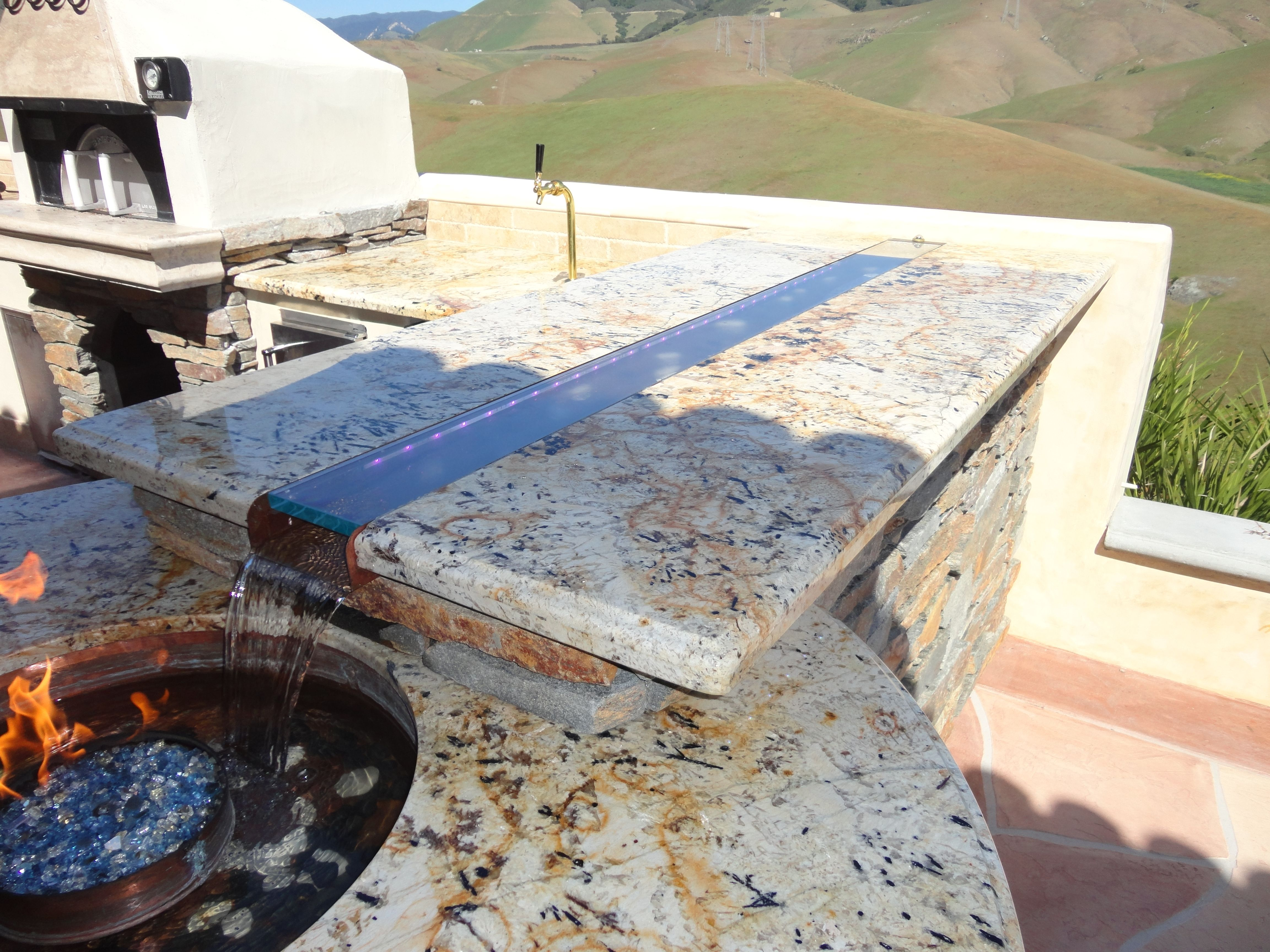 Stone for Outdoor Bar Tops | Outdoor Fire Pit Water ...
