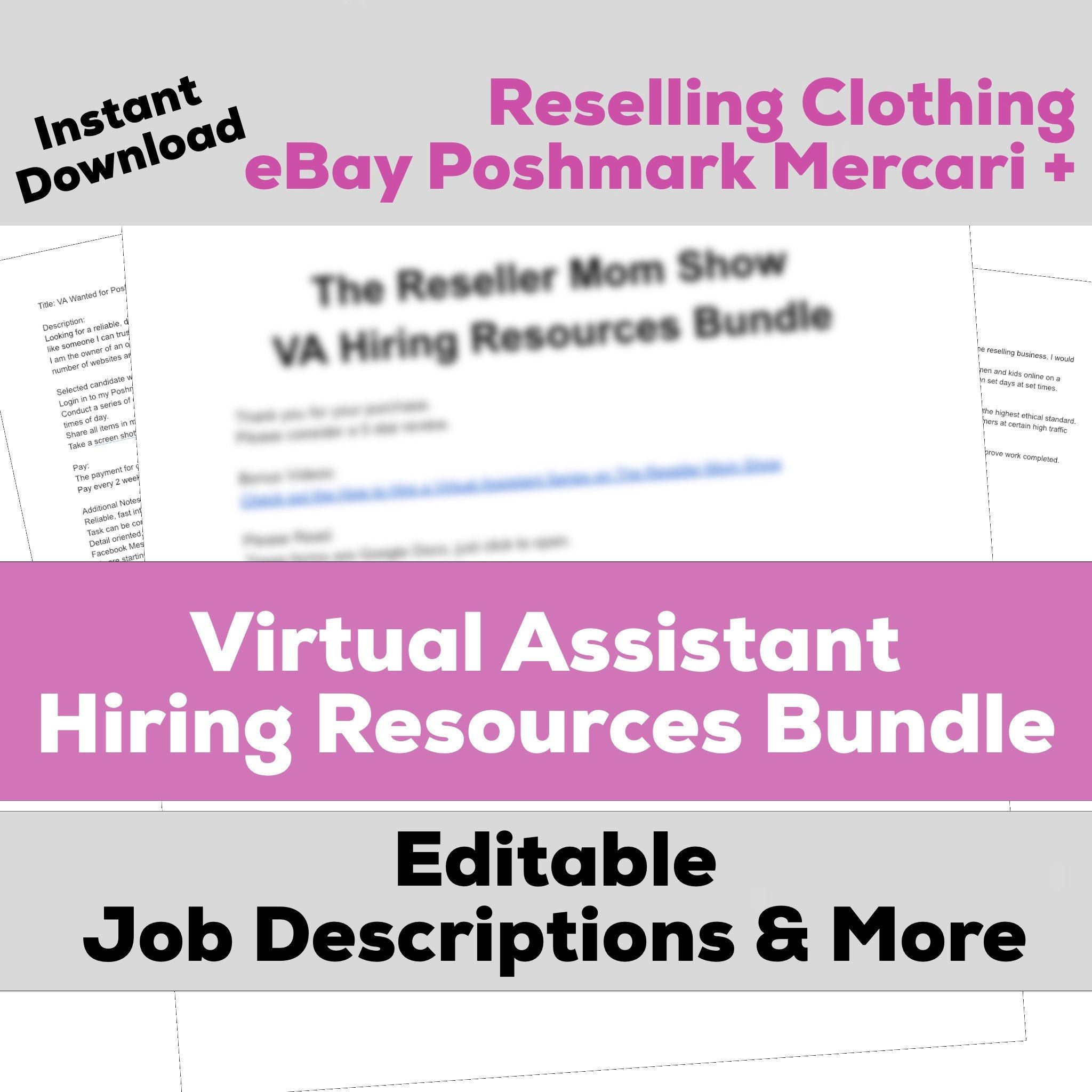 Poshmark Seller Ebay Seller Templates Hiring A Virtual Etsy Job Description Template Virtual Assistant Jobs Virtual Assistant
