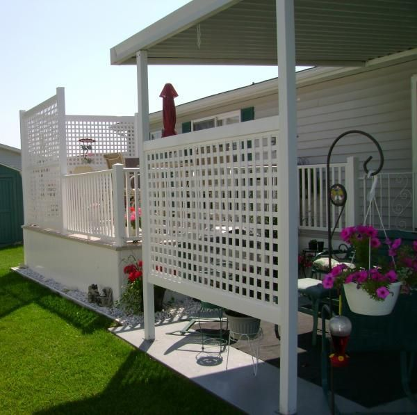 Screened Porch And Garage Oasis: Privacy Fence Screen Ideas For The Garden And Patio Area