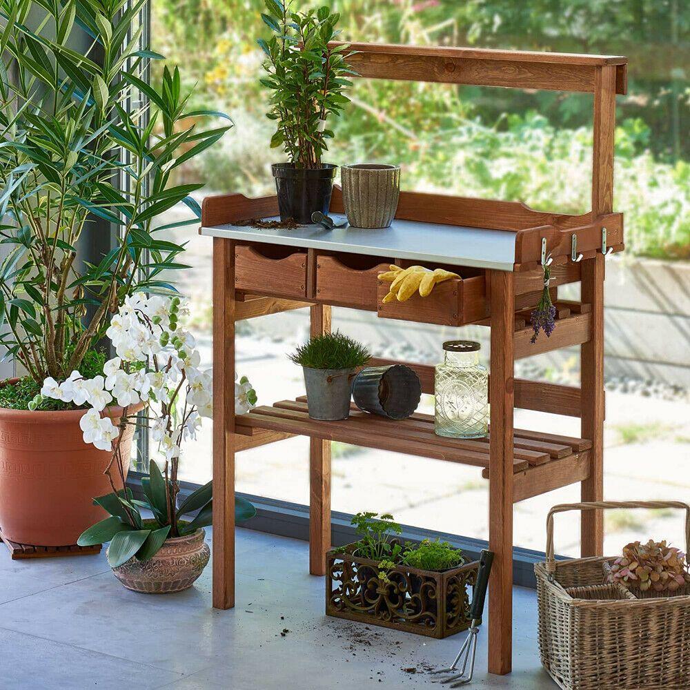 Garten Arbeitstisch Pflanztisch Gartnertisch Blumentisch
