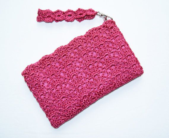 Bridesmaid Clutch Purse Pink Bridal Shower Gift Hands Free Clutch