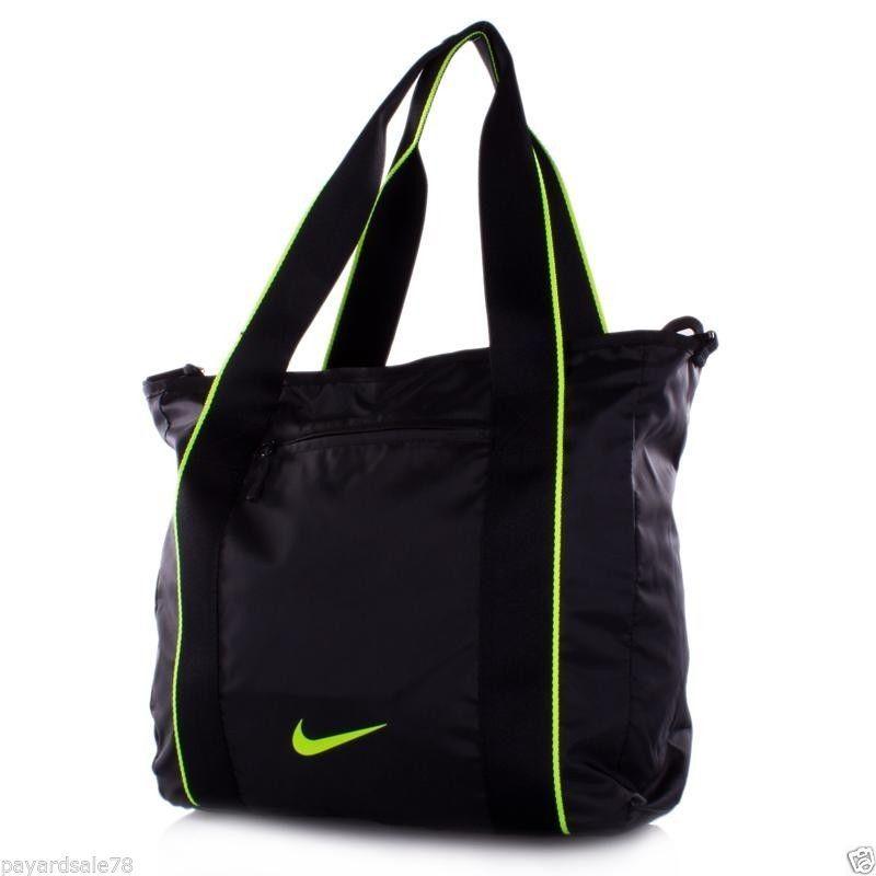 Nike legend track tote black travel shopping bag purse gym sports ...