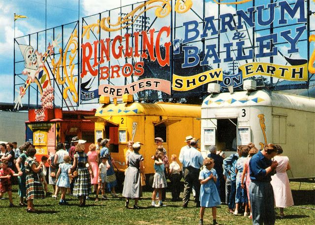 vintage everyday: Old Circus Pictures from the 1940s-1950s
