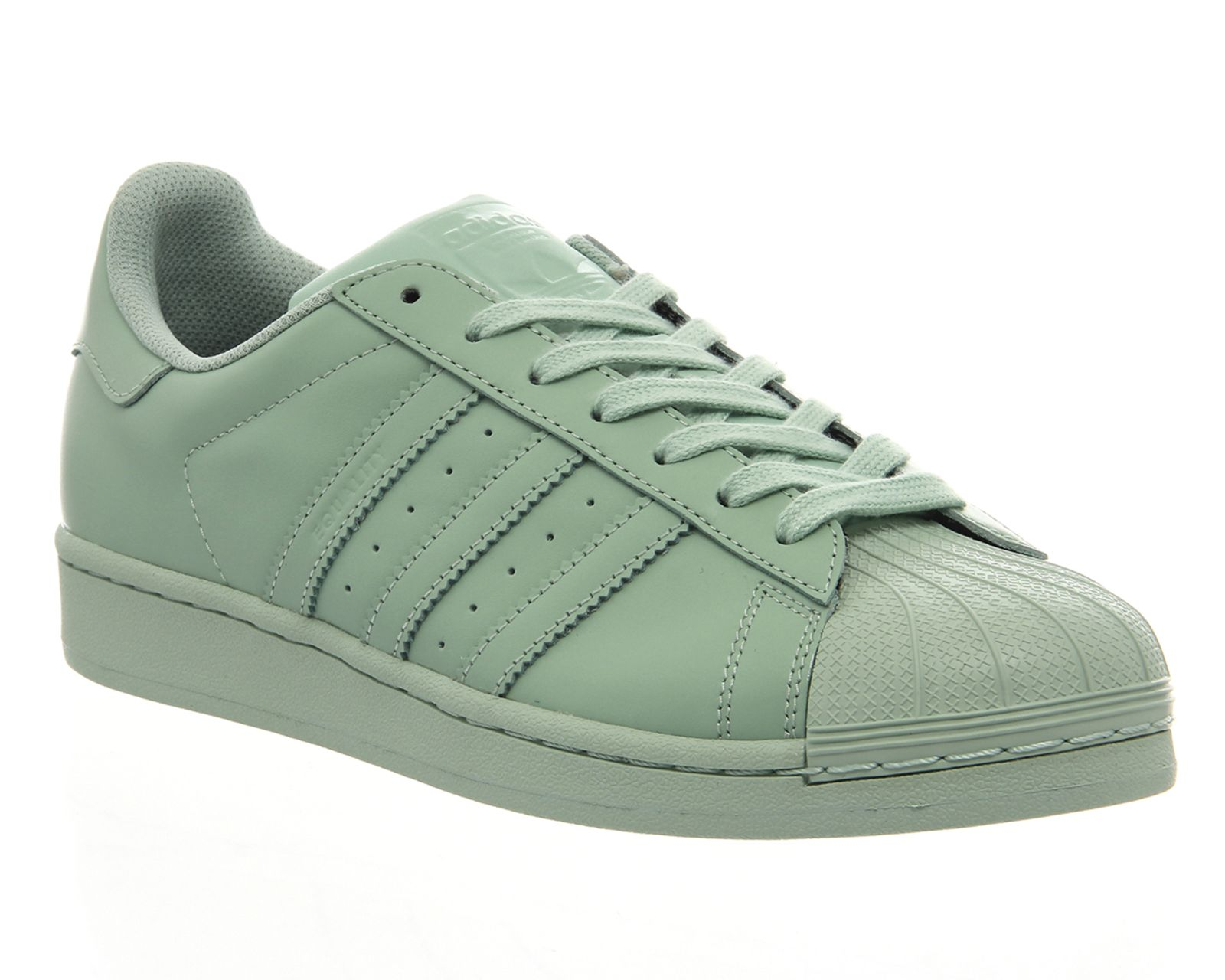adidas superstar womens mint green