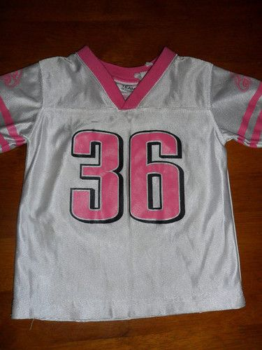 uk availability b98dc bc180 GIRLS 2T PHILADELPHIA EAGLES FOOTBALL PINK JERSEY SHIRT NFL ...