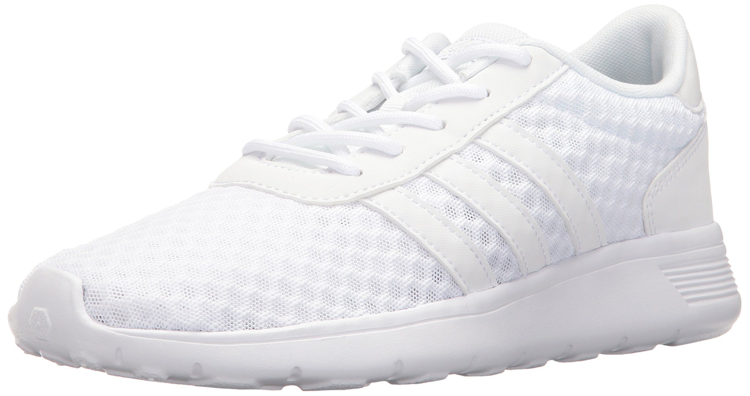 the best attitude 7066f eba48 adidas NEO Women s Lite Racer W Sneaker, White White Matte Silver, 8 M US.  Mesh upper offers breathability and a honeycomb look. Synthetic leather  3-Stripes ...