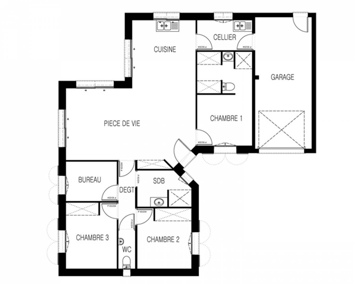 plan de maison iveco