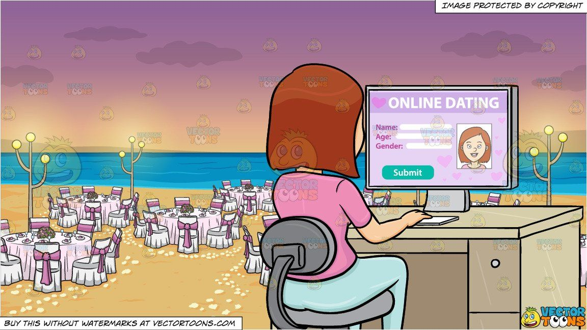 A Woman Editing Her Online Dating Profile On A Desktop
