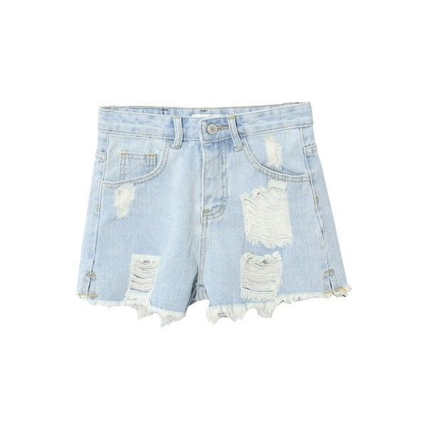 High Waist Ripped Washed Old Raw Edge Hot Denim Shorts (235 SEK) ❤ liked on Polyvore featuring shorts, bottoms, beautifulhalo, clothing - shorts, high waisted jean shorts, high waisted ripped shorts, high-waisted denim shorts, destroyed denim shorts and distressed high waisted shorts