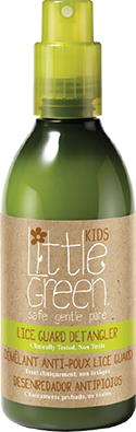 Lice Guard Detangler // Conditioning hair detangler formulated with a proprietary blend of natural tea tree, neem, rosemary, peppermint, lavender, + eucalyptus oils to effectively help repel head lice