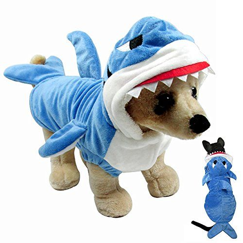 Pet CostumeGimilife Pet Shark Costume Outfit Halloween pet costumes Pet Pajamas Clothes Hoodie Coat For Dogs and Cats Autumn and Winter (L)  sc 1 st  Pinterest & $18.99 u003eu003eu003e Want to know more click on the image. (This is an ...