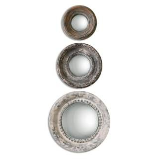 Check out the Uttermost 12921 Adelfia Round Mirror - Set of 3