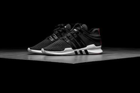 adidas eqt avanzata primeknit nero / bianco / turbo sostegno rosso calci
