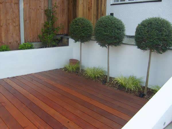 Balau Decking Narrow Garden Contemporary Design Deck Decks