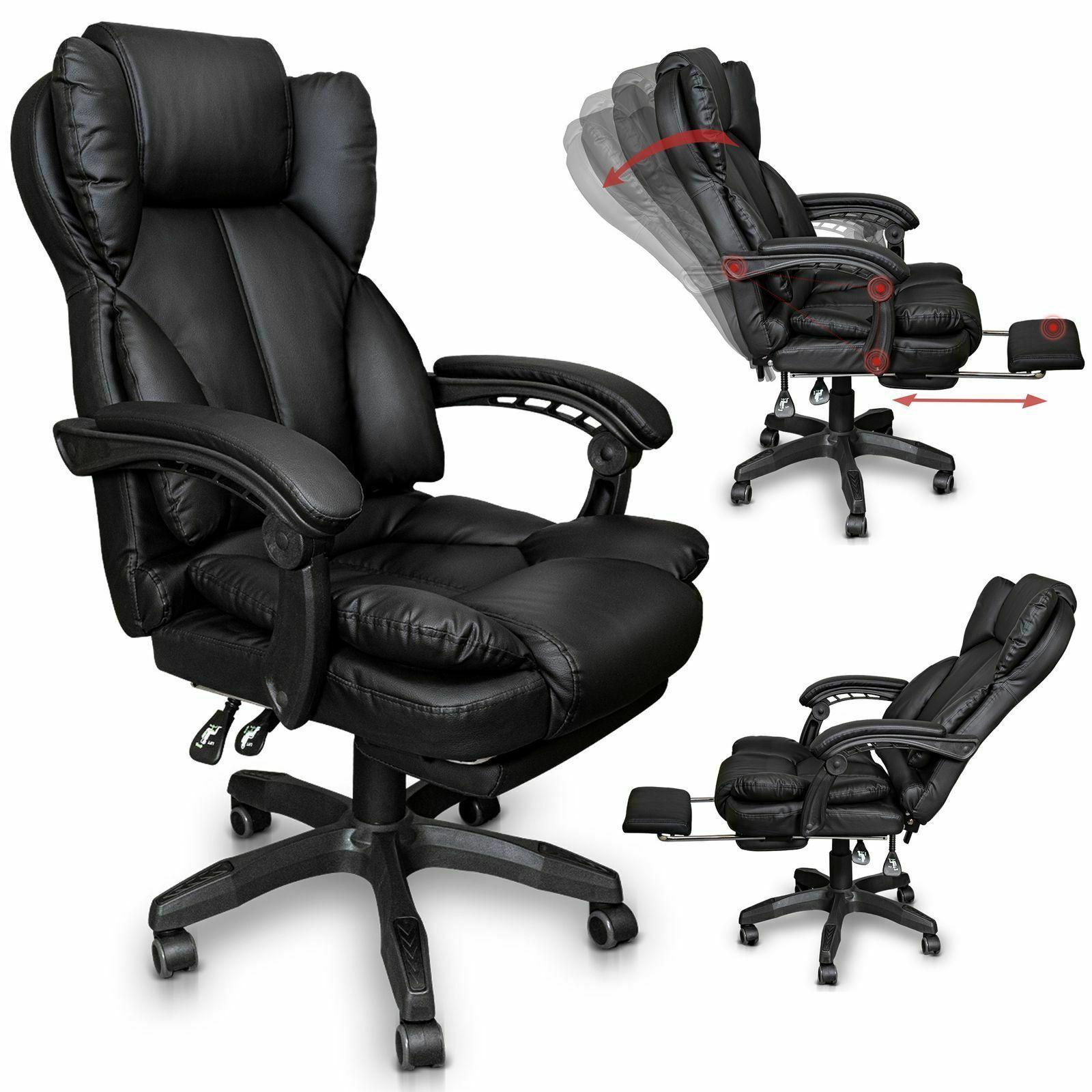 Schreibtischstuhl Burostuhl Gamingstuhl Racing Chair Chefsessel Mit Fussstutze In 2020 Schreibtischstuhl Burostuhl Sessel