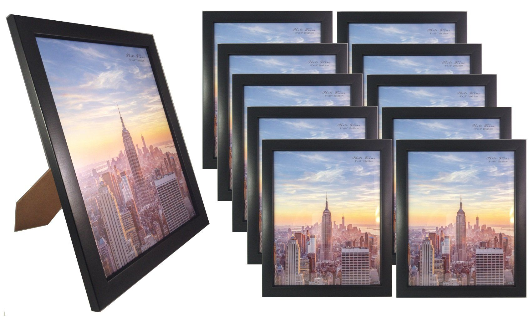 Black 5x7, 8x10, 11x14 Contemporary Wood Picture Photo Frame, 10 ...