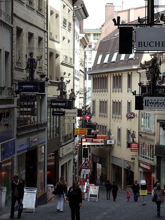 Rue de Bourg, Lausanne, Switzerland