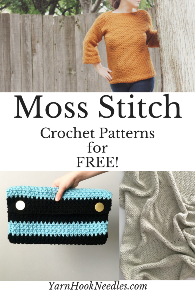 Learn to Crochet the Moss Stitch with This Video Tutorial | Favorite ...