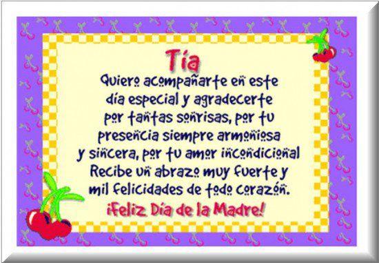Tarjetas Para Mi Madrina En El Dia De Las Madres Para Imprimir Mensaje Del Dia De La Madre Feliz Dia De La Madre Feliz Cumpleanos Tia Querida