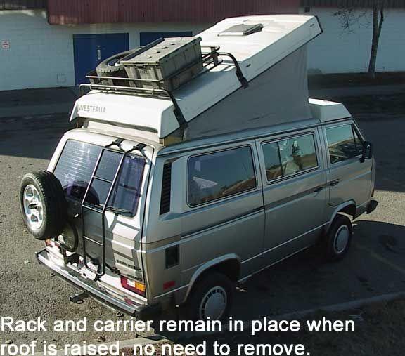 vanagon westfalia roof rack system vw 39 s vw vanagon. Black Bedroom Furniture Sets. Home Design Ideas