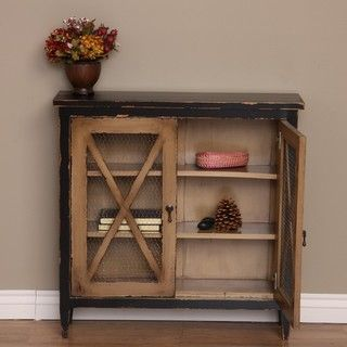 Overstock Update Your Home Decor With This Lovely Mini Crossbar Cabinet That Was Handmade In