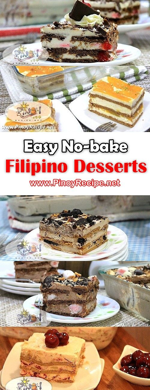 Easy Nobake Filipino Desserts perfect for Christmas and