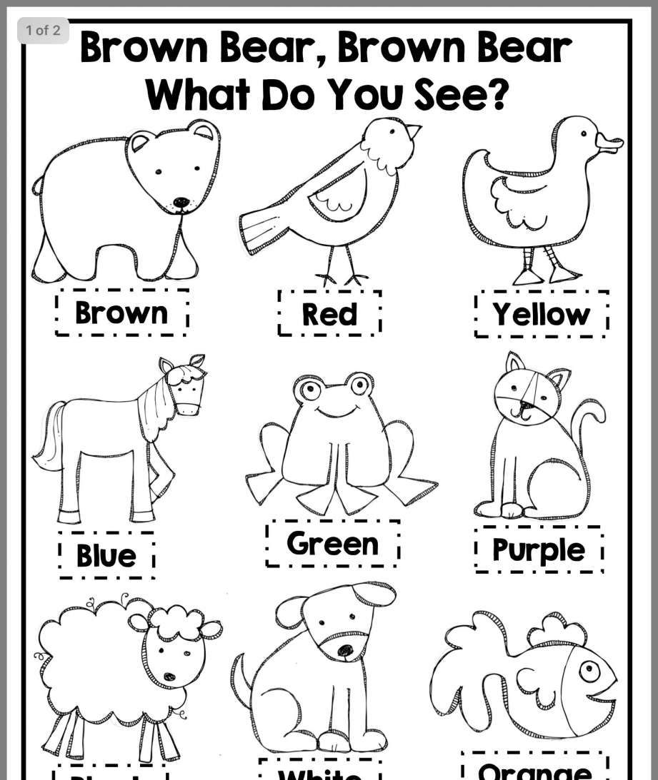 9 Color Brown Worksheet Preschool Preschool Books Kindergarten Reading Preschool Lessons
