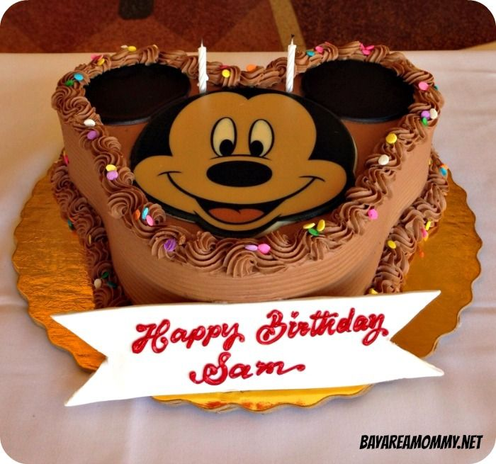 Chocolate Mickey Mouse Cake From The Disneyland Plaza Inn