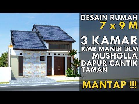 desain rumah 7 x 9 m dgn 3 kamar di desa tapi mewah