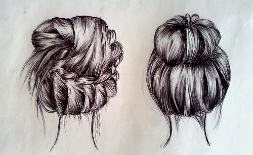 Hairstyle Sketch Back