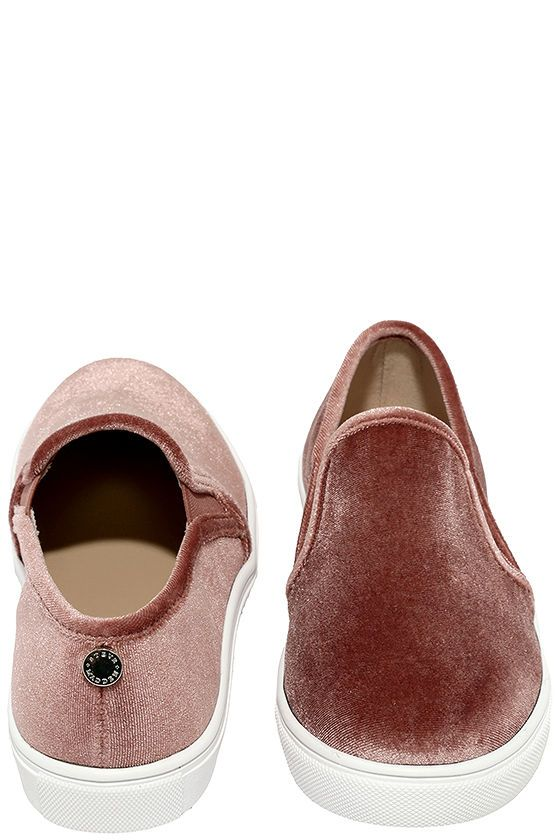 72bb3a3c212 Make your fashion inspo a reality with the Steve Madden Ecntrcv Blush  Velvet Slip-On Sneakers! These chic and trendy velvet sneakers have an  easy-to-wear ...