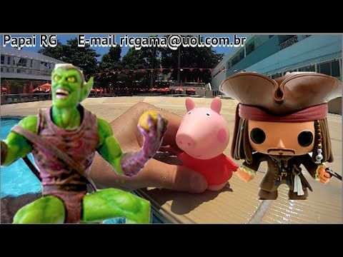 Peppa Pig Jack Sparrow X Duende Verde Marvel Select Piscina Swimming Poo.