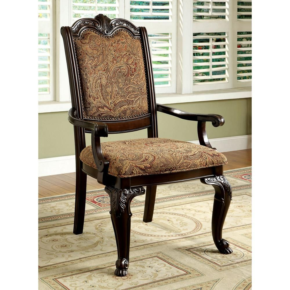 Williams Import Co Bellagio Brown Cherry Fabric Solid Wood