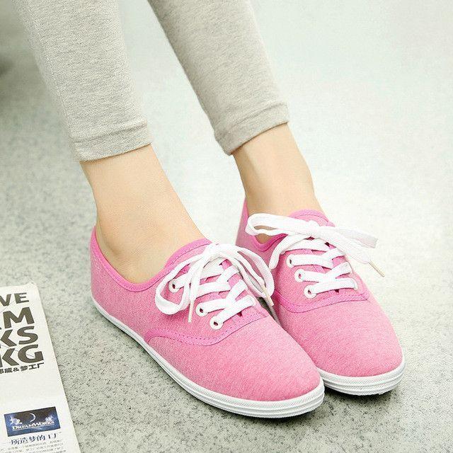 ace3b944b75 Women's spring canvas shoes female Korean white shoes breathable ...