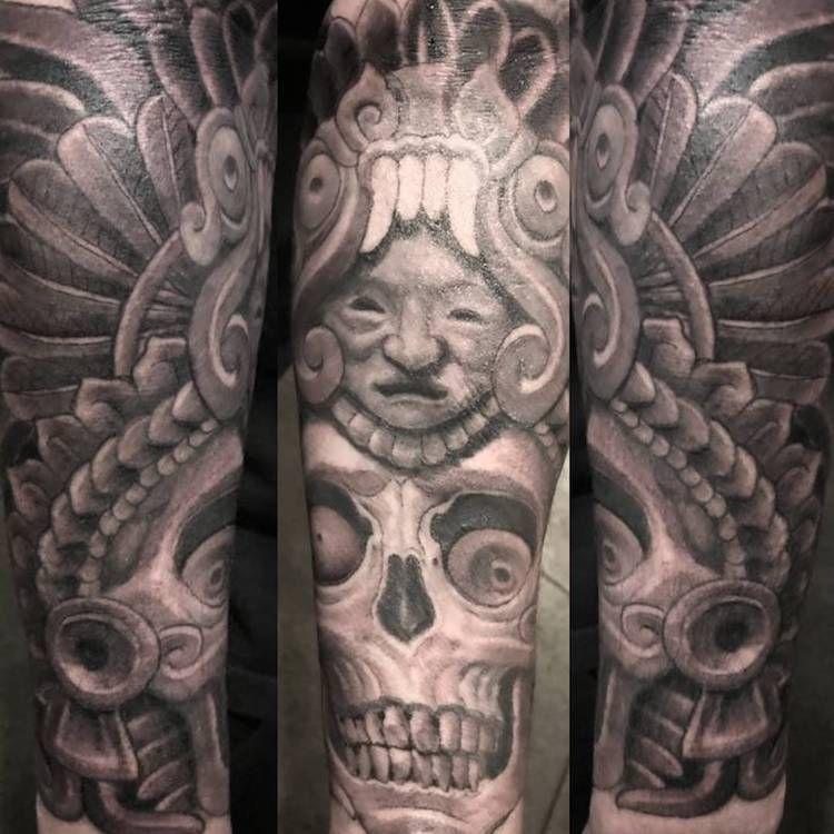 50 Of The Best Aztec Tattoos Tattoo Insider Aztec Tattoos Aztec Tattoo Designs Aztec Tattoo