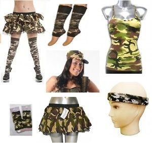 FANCY DRESS ACCESSORIES # ARMY CAMO CAMOUFLAGE HEADBAND