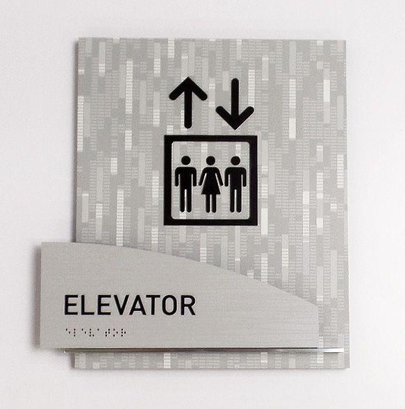 Fusion ada interior elevator id sign signage wayfinding - Ada interior signage requirements ...