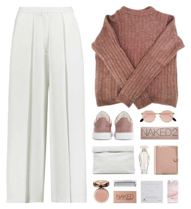 """flameless"" by martosaur ❤ liked on Polyvore featuring Iris & Ink, Marie Turnor, Acne Studios, Jil Sander, Dogeared, Victoria's Secret, Urban Decay and Ray-Ban"