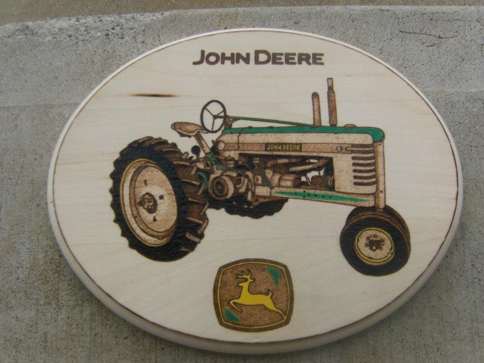 john deere tractor wood burning jody buy me this pinterest. Black Bedroom Furniture Sets. Home Design Ideas