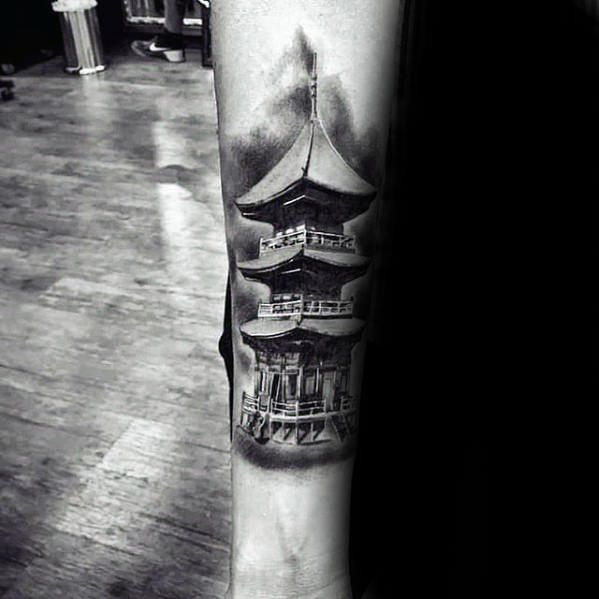 Discover Unique Architecture Ink With The Top 50 Best Japanese Temple Tattoo Designs For Men