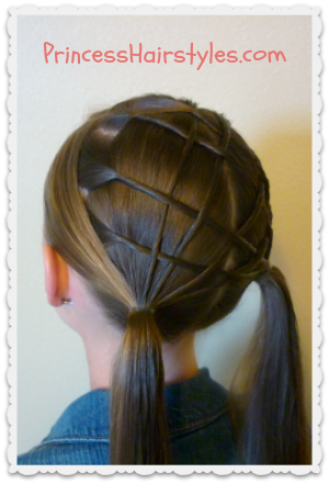 Woven Lattice Pigtails Princess Hairstyles Girl Hairstyles Hair Styles Princess Hairstyles