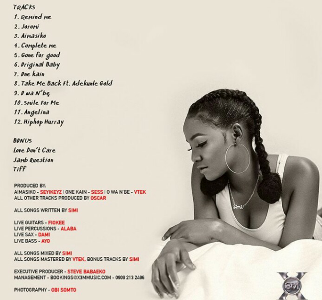 DOWNLOAD: Simi – Simisola (The Full Album in one Mix