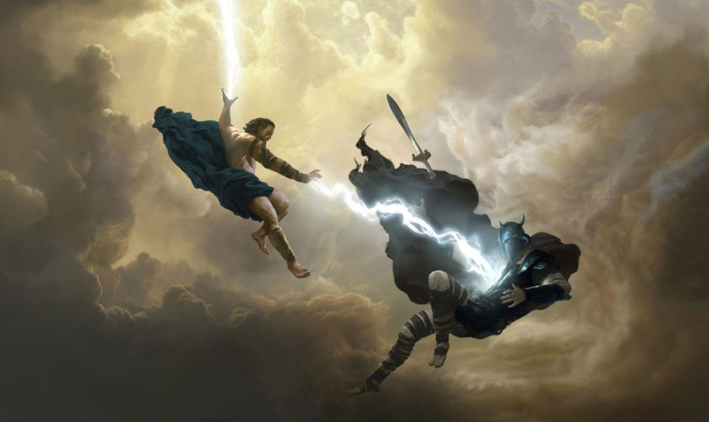 Justice League Teaser Hints At Wonder Woman S Dad Cameo Greek Gods History Painting Zeus